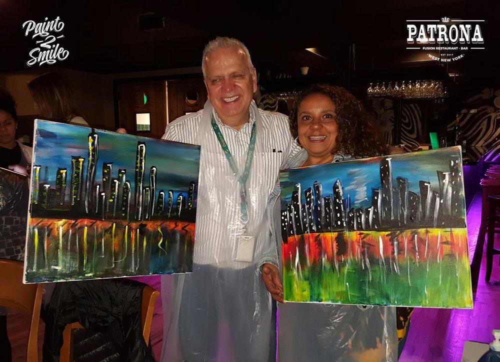 Couple paint night