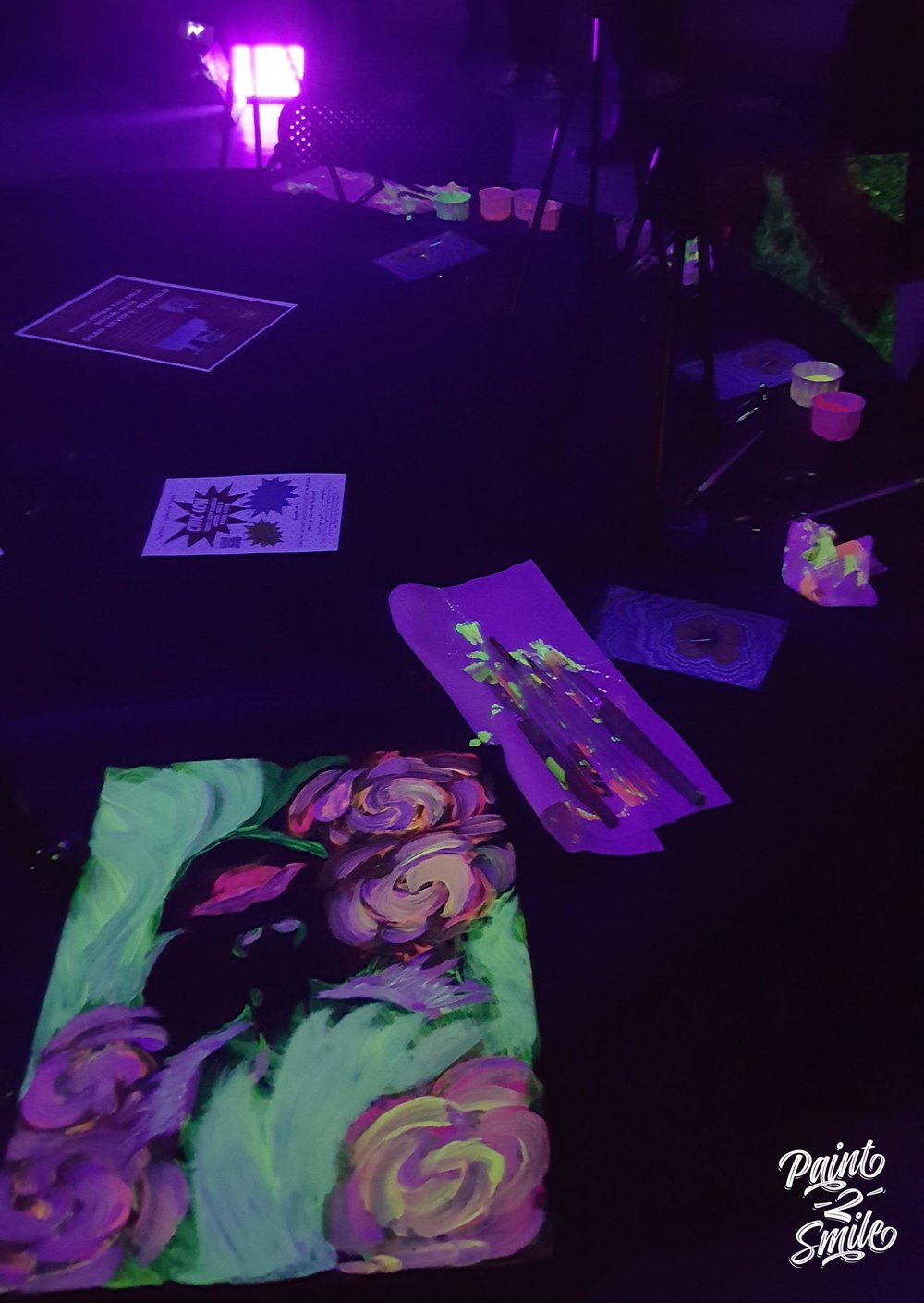 glow paint and sip