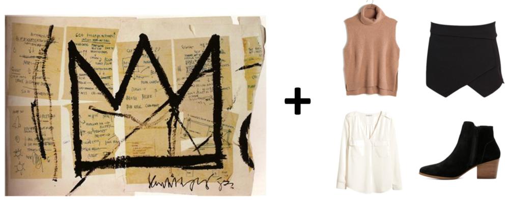 (Art via  Wikiart ; Sweater Vest:  Madewell , Blouse:  H&M , Skort:  Pilot  , Boots:  ALDO )