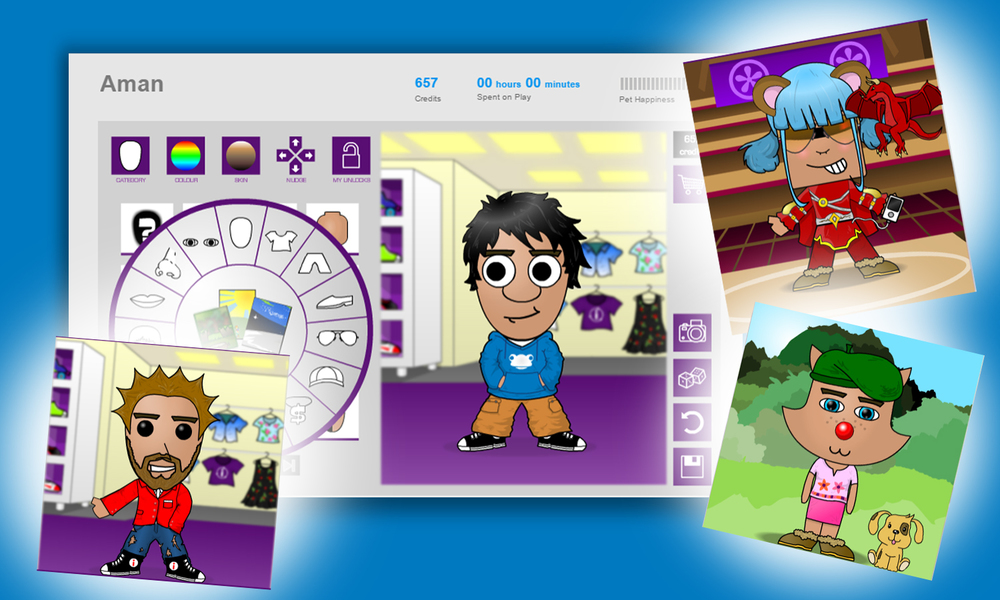 Avatars and RewardsA cool virtual Avatar for your students to call their own. Using Credits earned through the completion of quizzes, students can buy unlock more mini-games and buy decorations or pets for their Avatar, giving them visual satisfaction for their efforts!   -