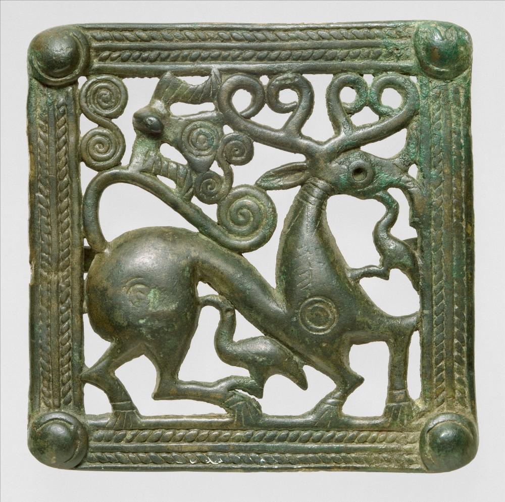 ბრინჯაოს ქამრის ბალთა, ახ. წ. 1-2-ე საუკუნეები. მეტროპოლიტენის მუზეუმი