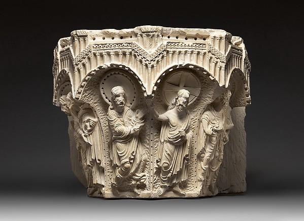 წმინდა თომას კაპიტელი, კირქვა, 1170-იანი წლები, დამზადებულია ნაზარეთში, ინახება ტერა სანქტას მუზეუმში, იქვე. www.metmuseum.org