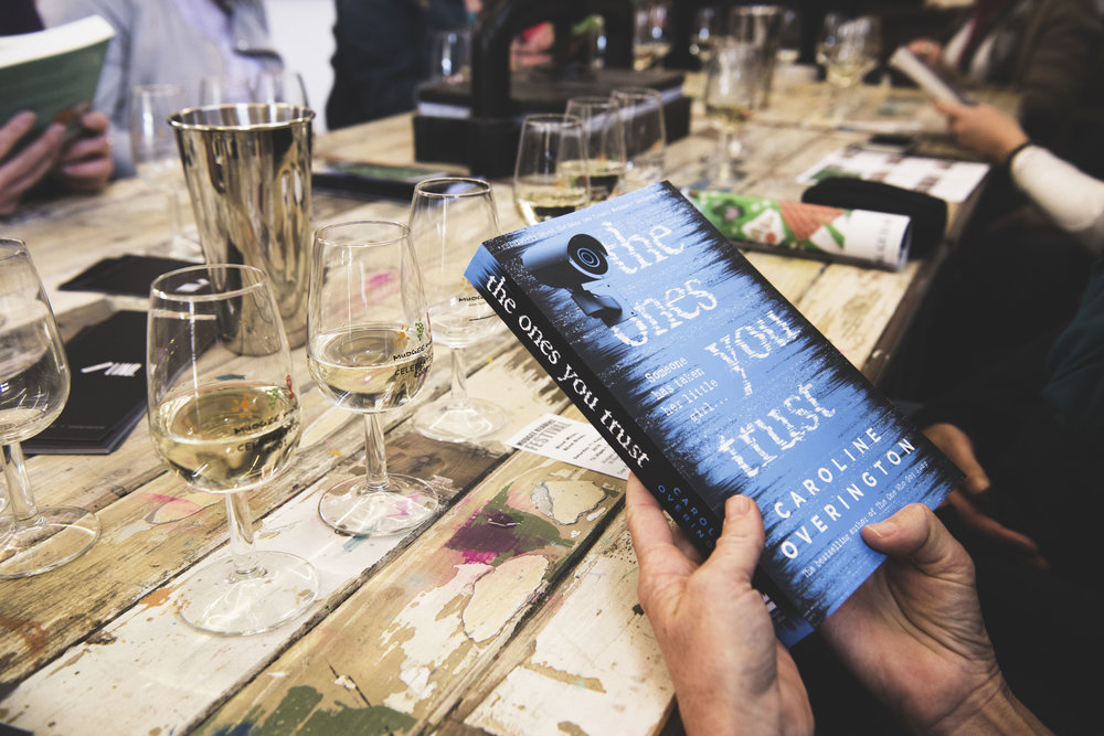 Blind Books Blind Wines event at the Mudgee Art House, 2018.