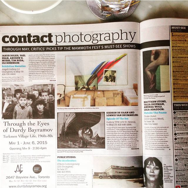 My show is one of @nowtoronto critic's picks must-see for #CONTACTphoto. Yeahhhhhhh #drakehotel #nowtoronto #taliashipman