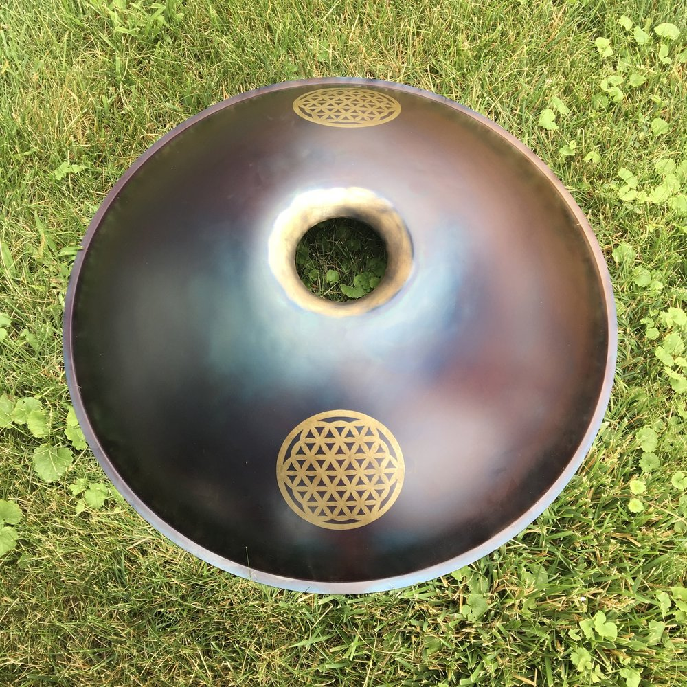 Lotus flower mandala custom design handpan