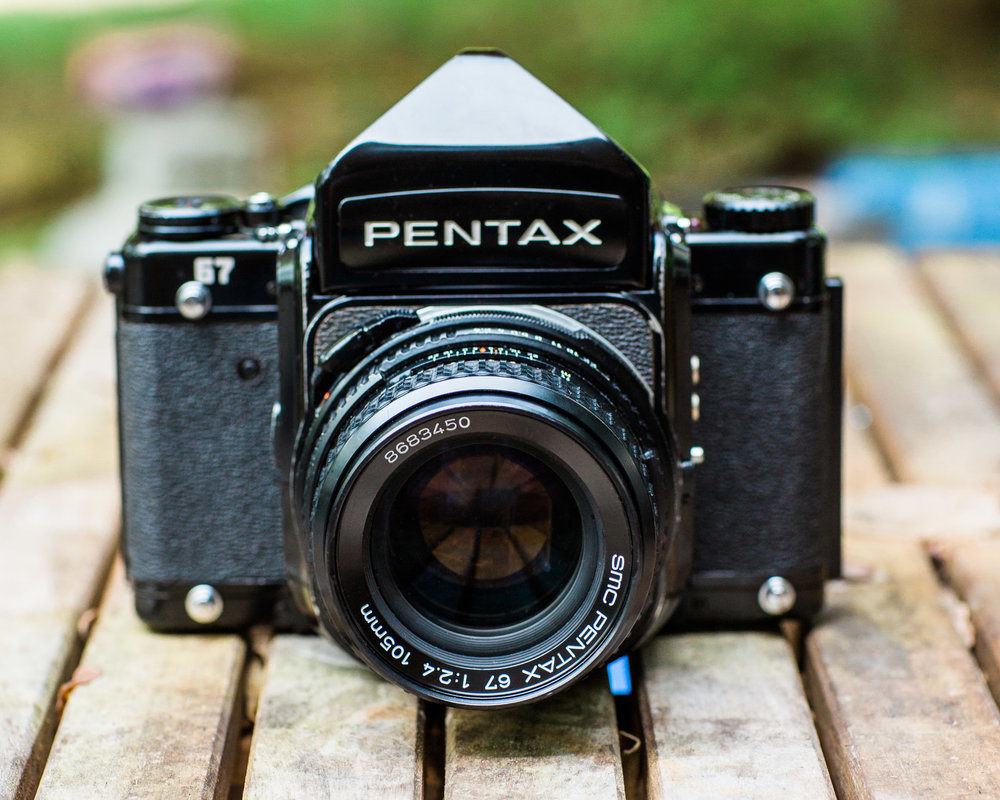 Pentax 67 Medium Format Film Camera with the Pentax 67 SMC 105mm f/2.4 Lens