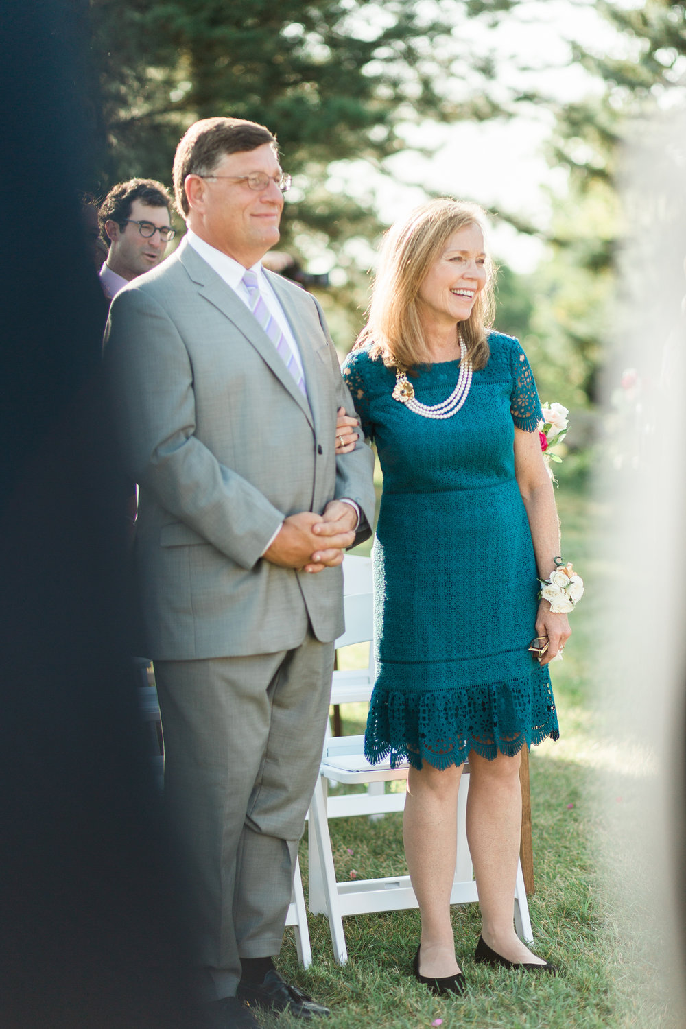 Groom's mom and dad at little turtle club outdoor ceremony in columbus ohio