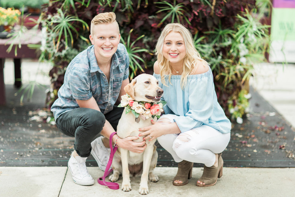 Engagement Photos with Pets | Kentucky wedding photographer