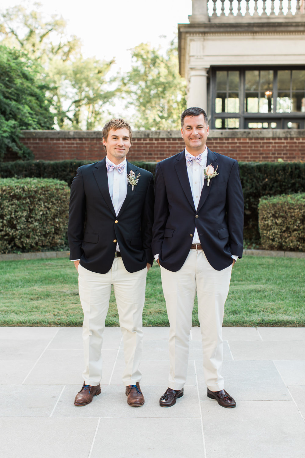 Groom and his groomsman at Garden Court Louisville Kentucky Wedding