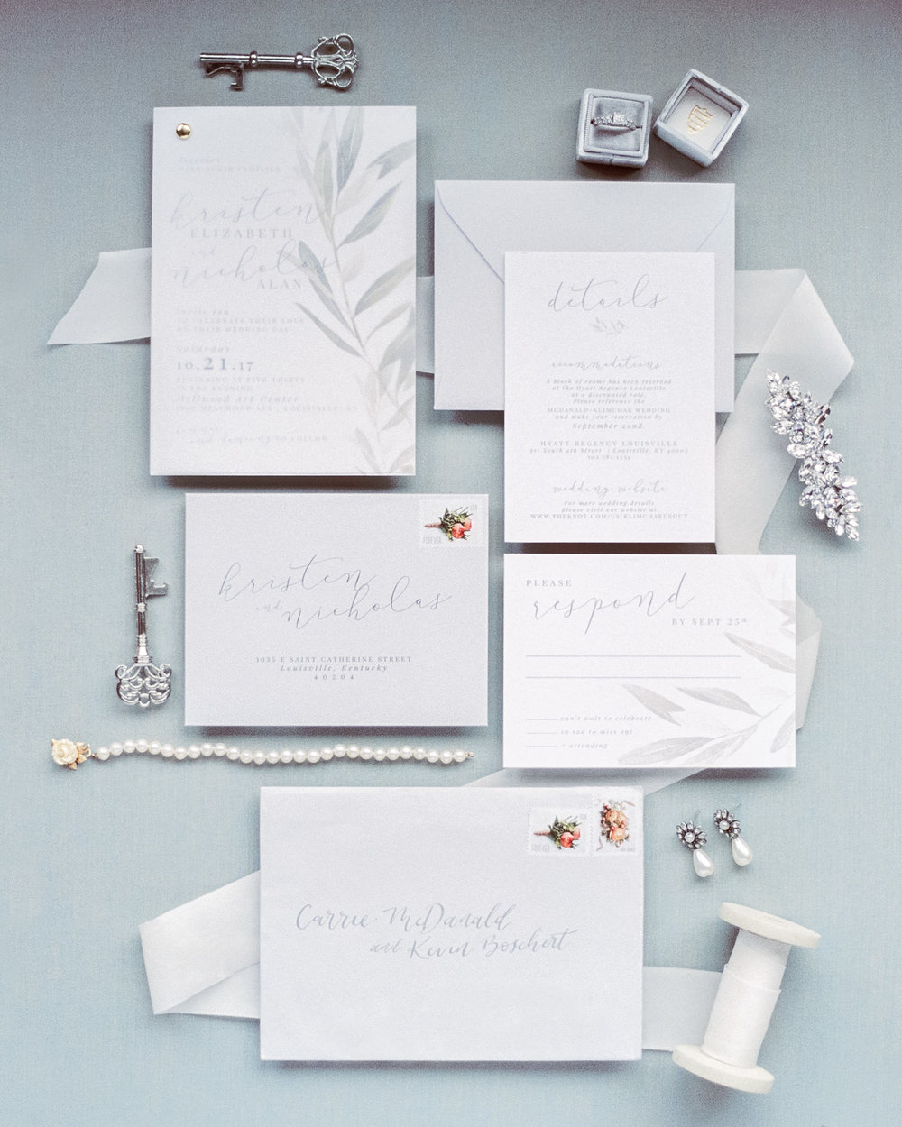 Flat Lay of Haley Michelle Designs paper goods