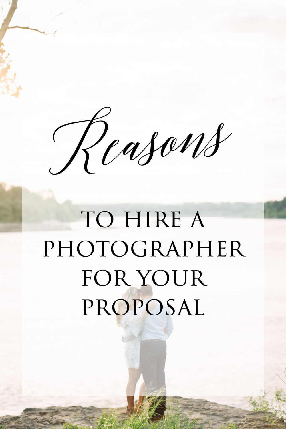 Reasons to Hire a Photographer for Your Proposal  - There are moments in life that simply ought to be captured on camera — and your proposal is one of them...read more