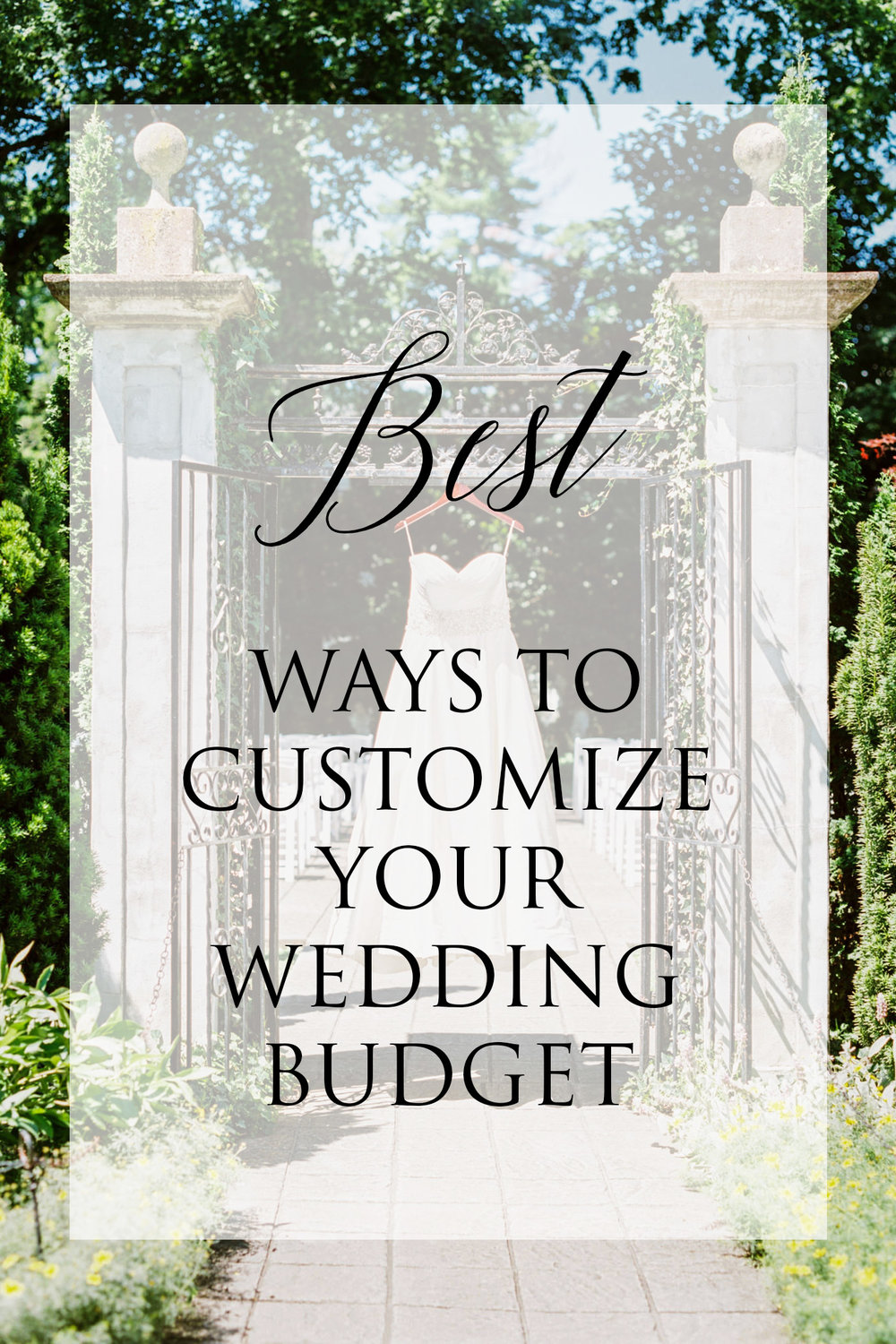 best ways to customize your wedding budget
