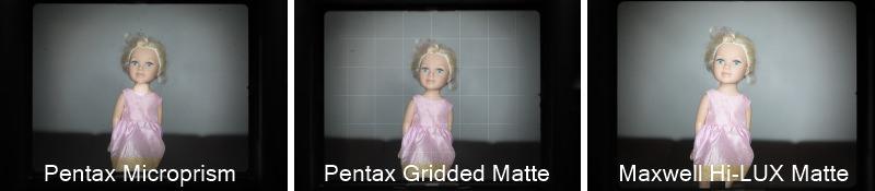 Pentax 67 Focusing Screen Comparison