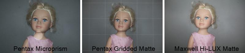 Pentax 67 Screen Comparison