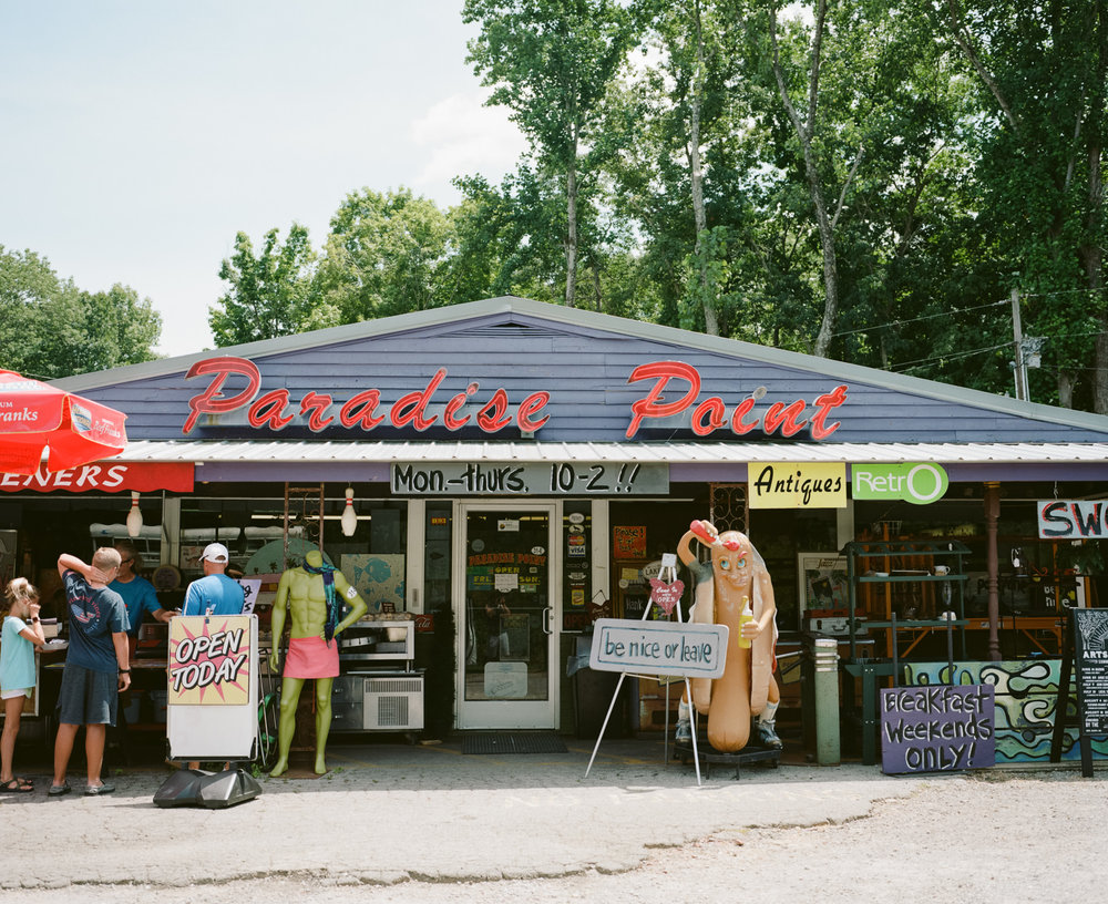 Image of Paradise Point Marketplace taken with the Mamiya 7 and 80mm f/4 lens