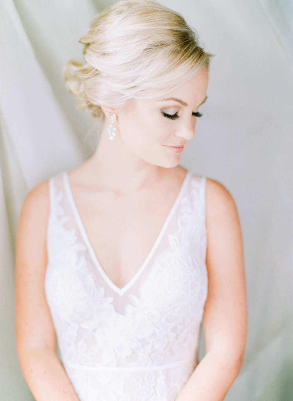 Image of Bride during getting ready taken with Contax 645 and Zeiss 80mm f/2