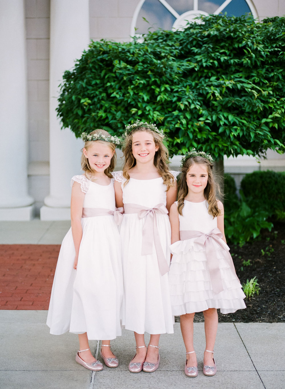 Image of flower girls taken with Pentax 645nii using a 75mm FA f/2.8 lens