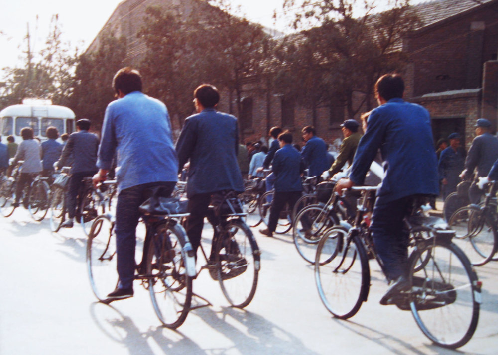 Bikes were the predominant mode of transport late 1970s.jpg