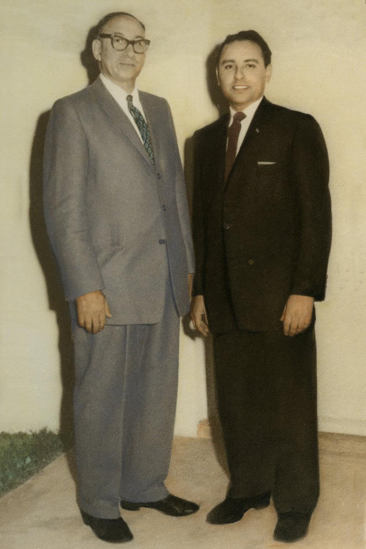 Khawaja Amir Bux and Khawaja Sadiq Amir Bux, Tammy's grandfather and father circa 1960's