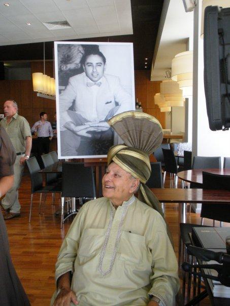 Sadiq Bux celebrating his 80th birthday January 2010
