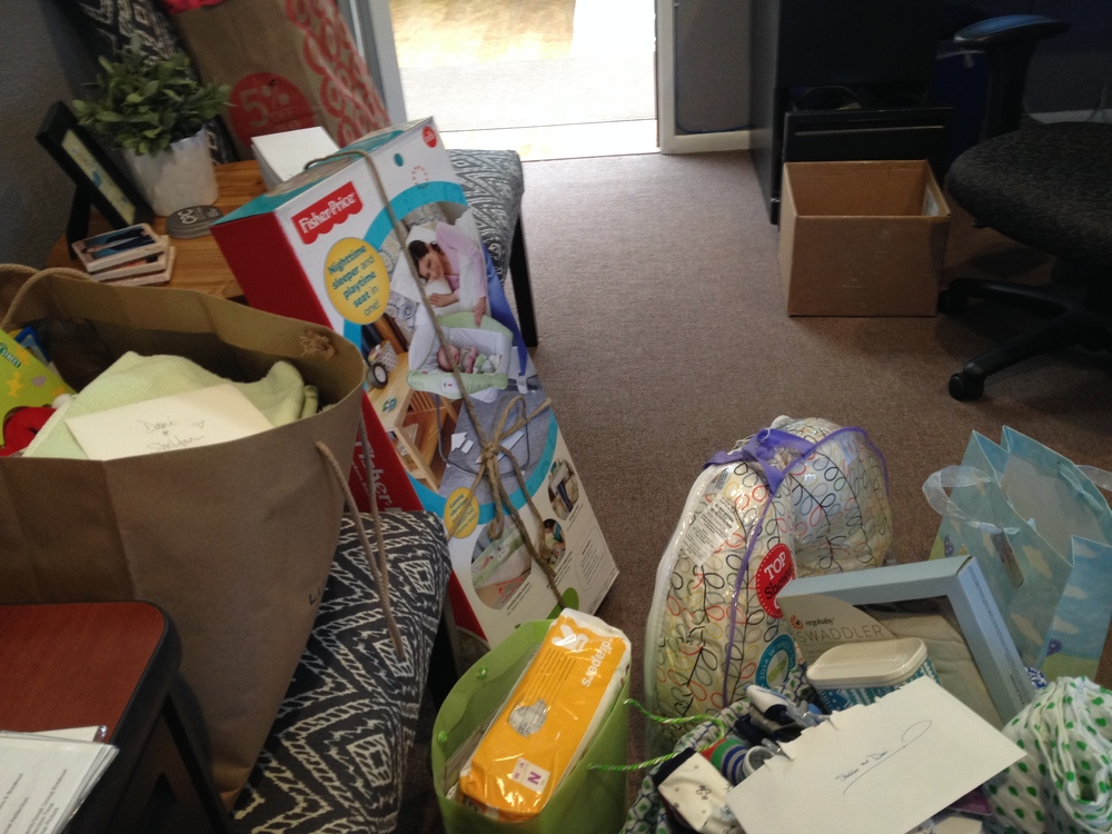 My office as it started to fill up with baby stuff for the baby boy we were expecting.
