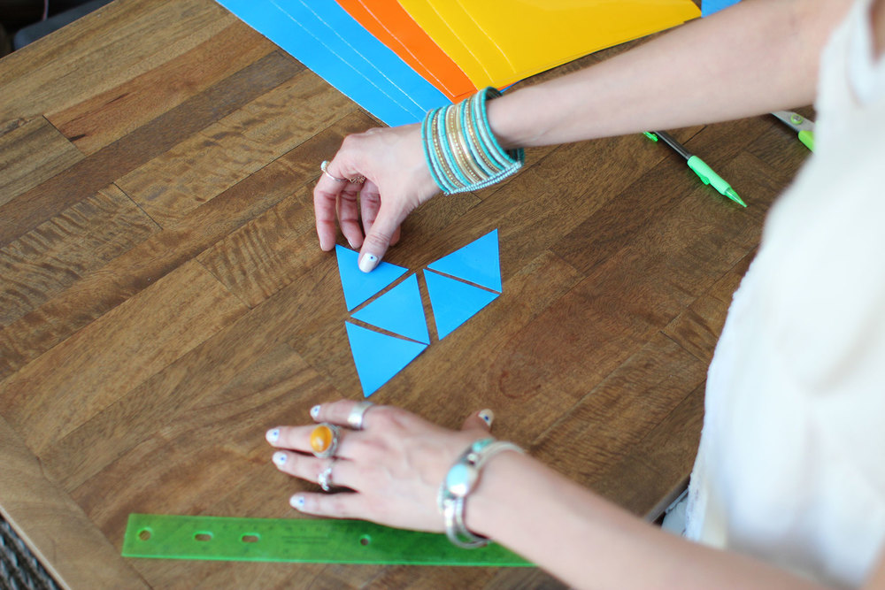 DIY Faux Stained Glass ▲ www.WeAreInOurElement.com