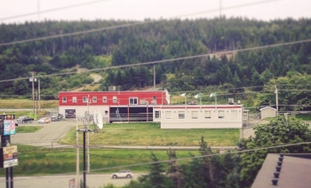 Steele Communications in St. John's, Newfoundland. This building held about 100 staff and was the centre of operations for 16 radio stations across the province.