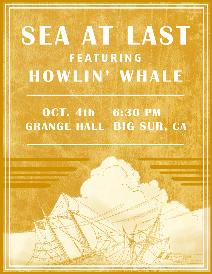 We are super excited to be playing at the Grange Hall in beautiful Big Sur this Sunday, Oct. 4th! Big Sur is a really special place for the band, so much inspiration and songs have come out of our visits amongst the towering redwoods, combing through the poetry books and record bins at Henry Miller Library, sipping morning espresso and nibbling on croissants at the Big Sur Bakery, making beach art in secret coves, and watching the sunset melt into the ocean from a roadside cliff, perched with friends, howling at the moon and searching out our stars. Bringing our music to this place is a dream, and needless to say... its just the beginning.
