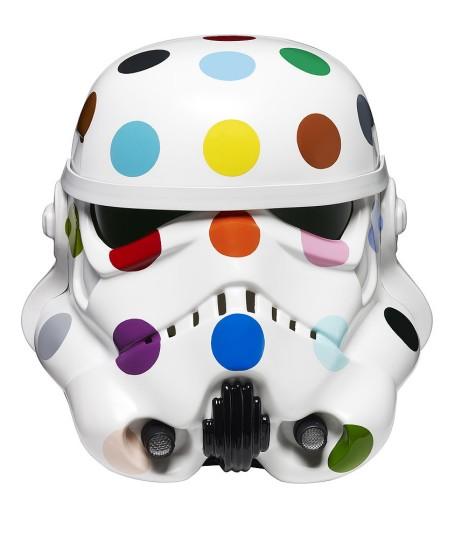 'Spot Painted Art Wars Stormtrooper Helmet' Damien Hirst