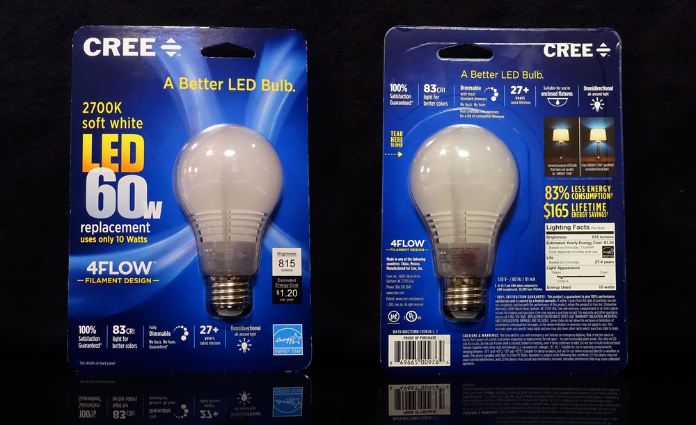 "Updated packaging for Cree's 2015 ""A Better LED Bulb"""