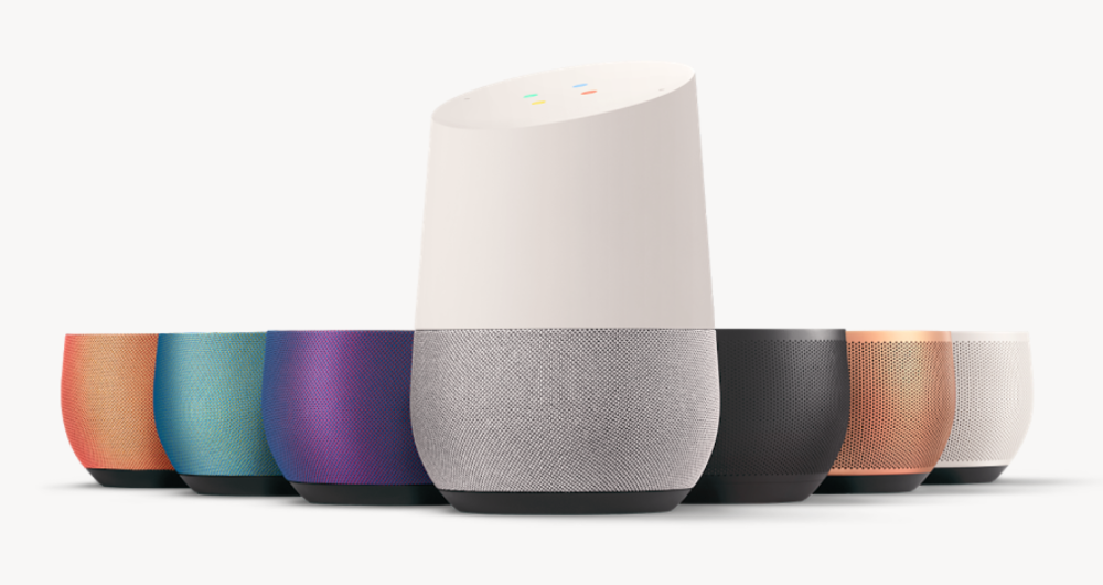 All of the interchangeable Bases for Google Home are now shipping. (Image: Google)