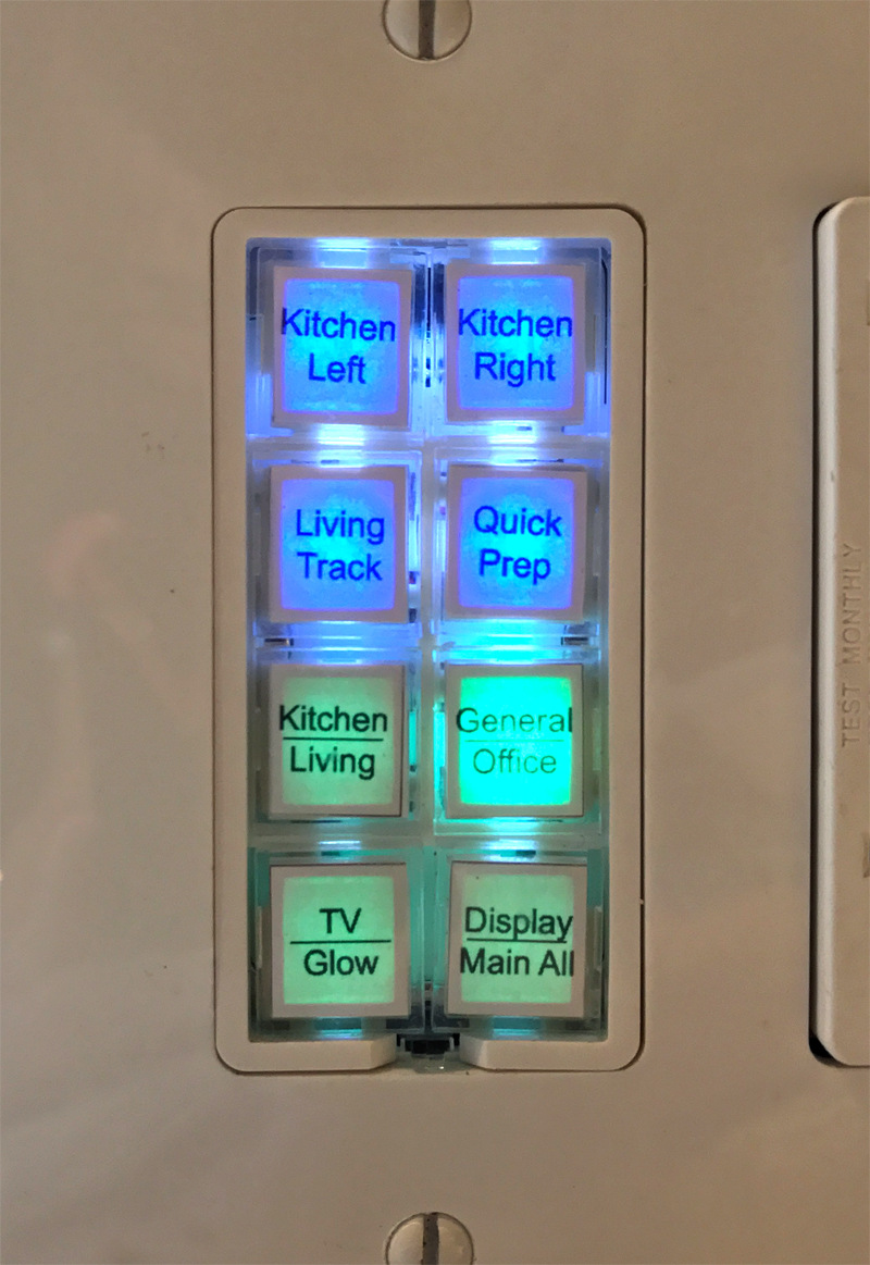 "One of the Insteon Keypads in the Smarter Home Life ""Home Studios"""