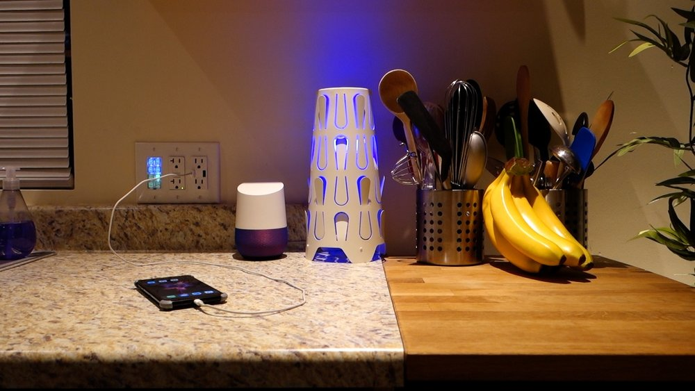 LIFX+ smart bulb in an IKEA Kajuta fixture