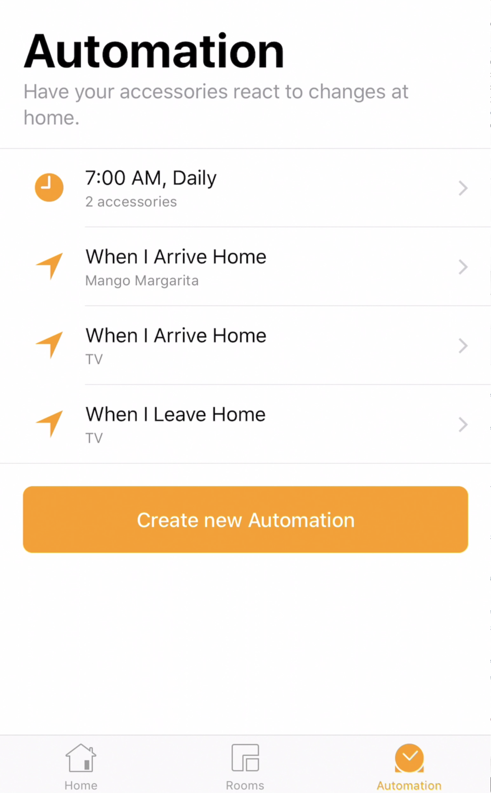 You can setup Automations in nearly any HomeKit app, including Apple's own built-in Home App