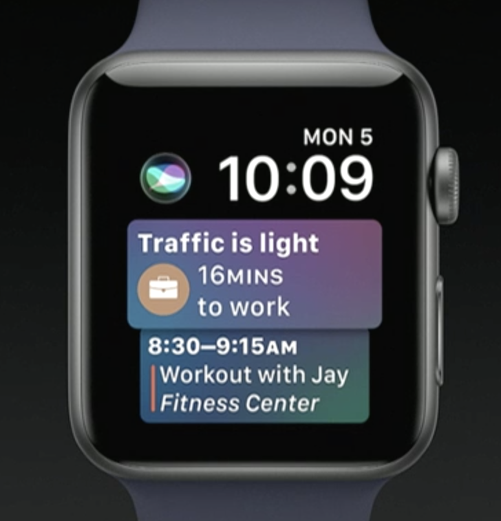 A new watch face in watchOS 4 will showcase Siri's new intelligence-building abilities.