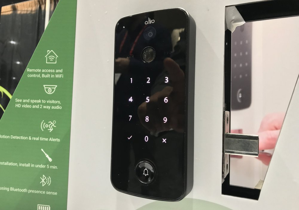 The Altro smart lock and video doorbell