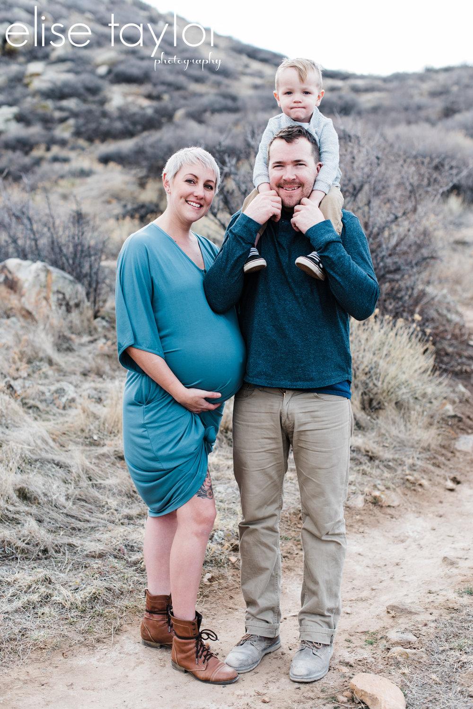Mariana Butte, Loveland Colorado Maternity Session