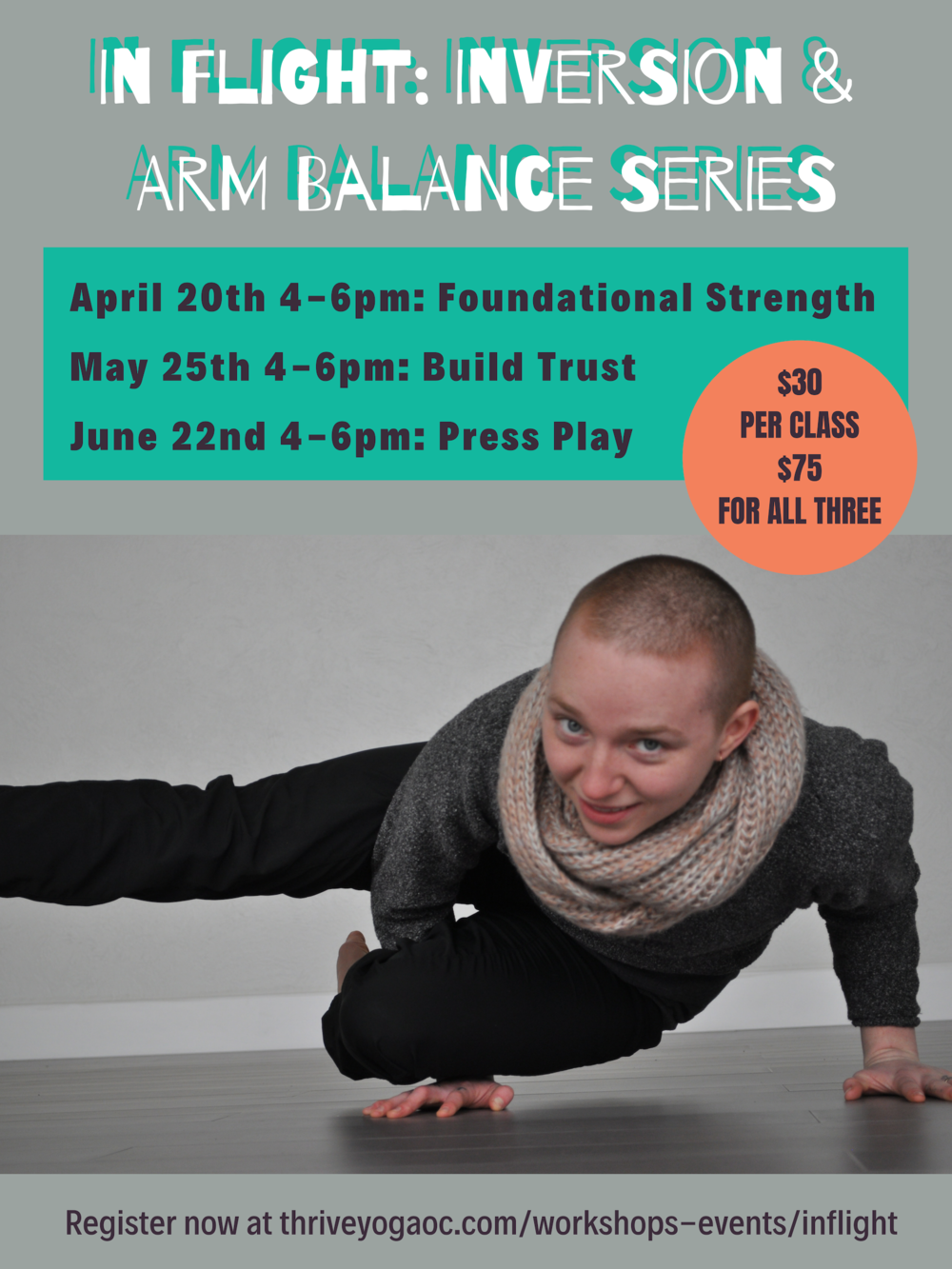 Are you ready to take your asana practice up a level? Join Sage as they guide you through practices of building foundational strength, trust and provide space to play with going upside down and finding balance. Each session will include a strong yoga practice with focus on techniques to navigate breath as we move into harder poses. While this series may be challenging, it is open to all levels and abilities.