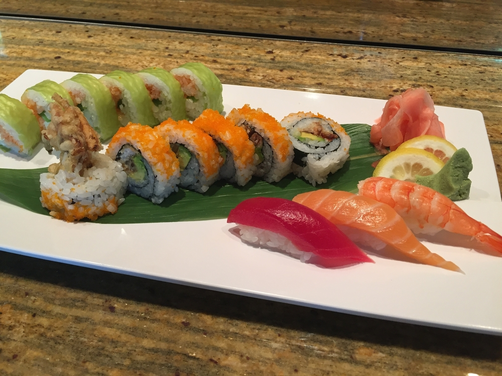 @spicy tuna,cream cheese & jalapeno, soy sheet wrap @spider roll (soft shell crab) @tuna,salmon&shrimp nigiri