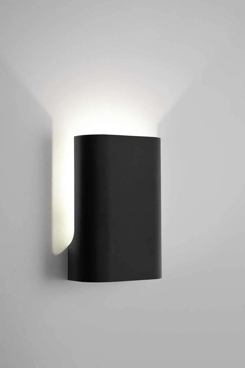 I Do... small wall up lamp in flat black
