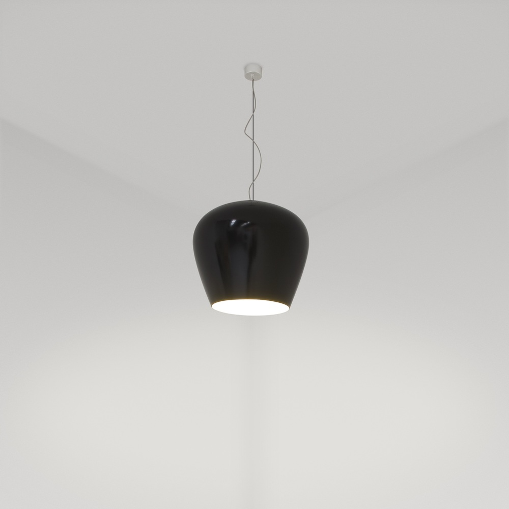 Glass Collection Cognac Pendant in black
