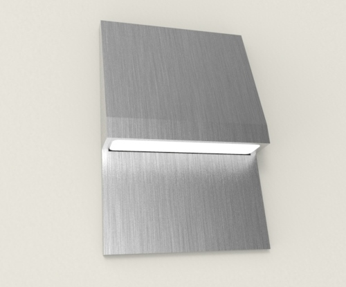 Basics Compact Wall Washer Down in brushed aluminium
