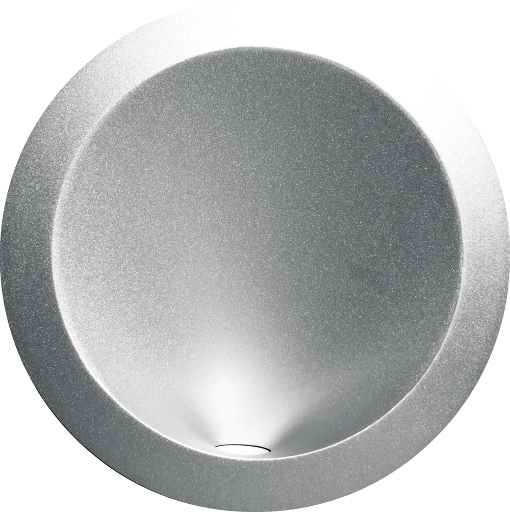 Basics W900 Curve wall light in silver
