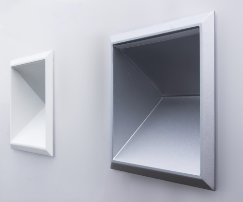 Basics W900 Cube wall lights in white & silver