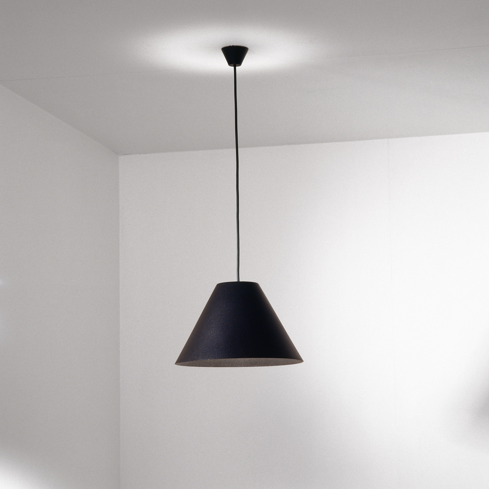 Shady pendant lamp ism objects ism objectsshady large blackpendant copyg mozeypictures Gallery