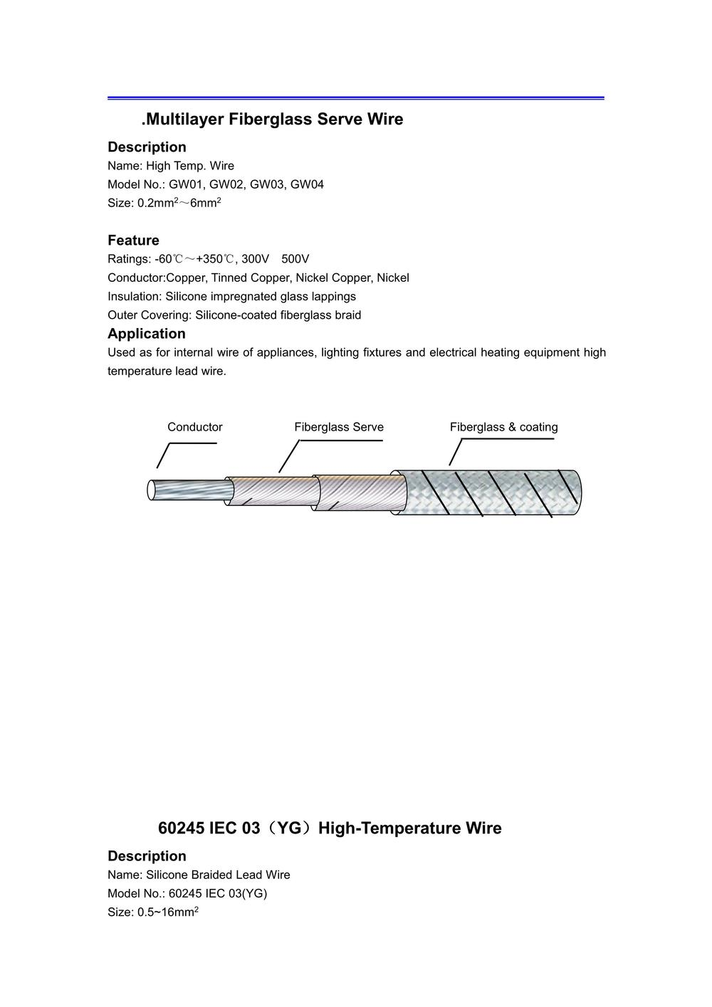 High Temperature Wire — Thomas Technical, Inc