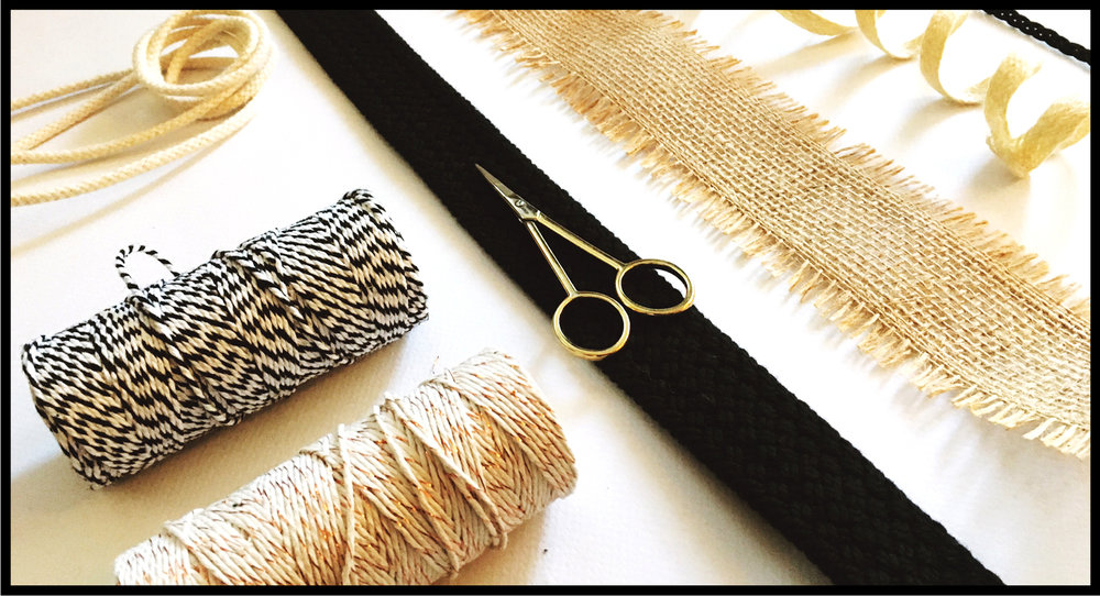 Gather your ribbon - TWINE – CALICO – HESSIAN