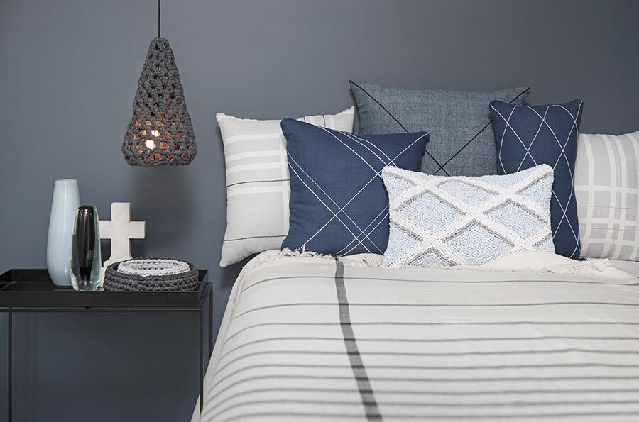 Geometric Checked Ethical Cushion