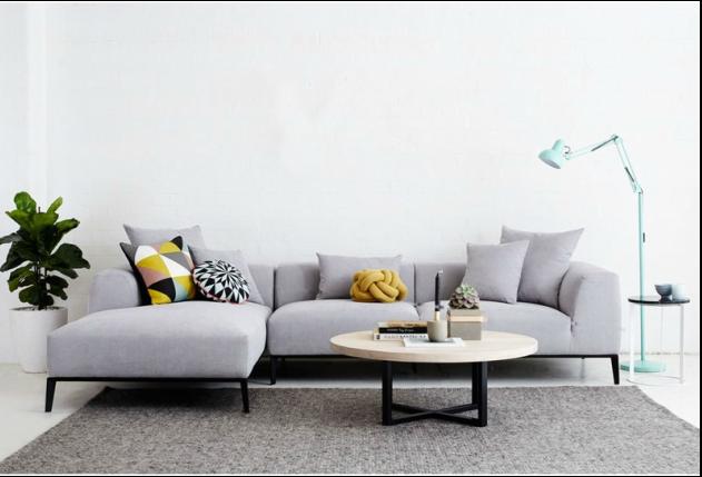 The Danielle Grey Fabric Modular Sofa