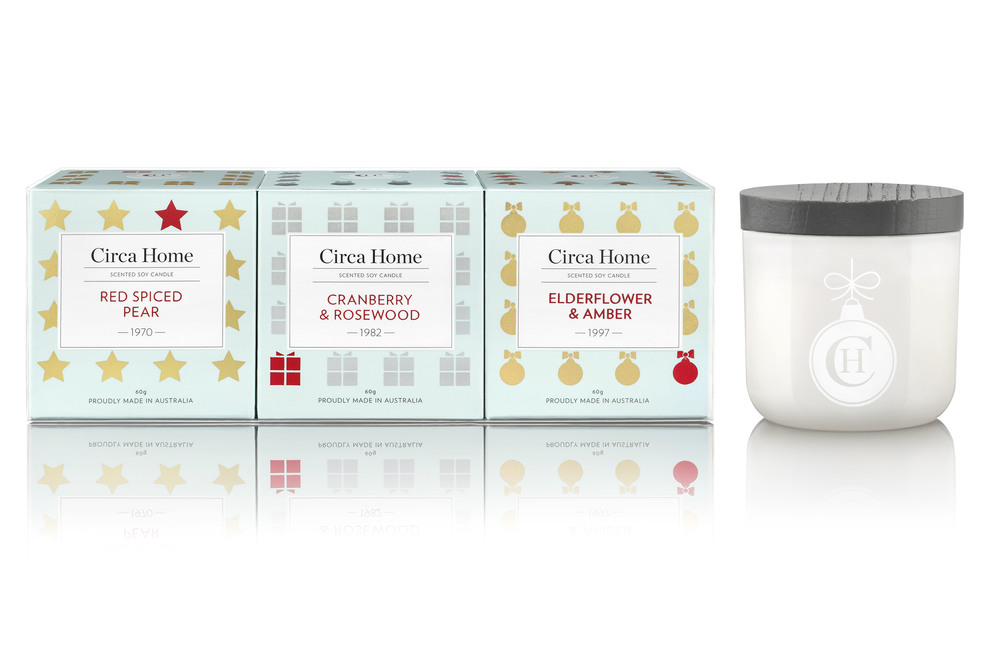 Circa Home -  Mini Candle Christmas Trio $32.95